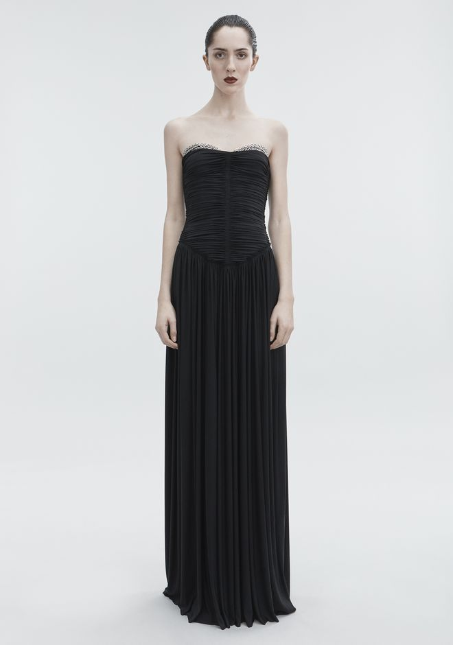 ALEXANDER WANG RUCHED BODICE GOWN Long dress Adult 12_n_f