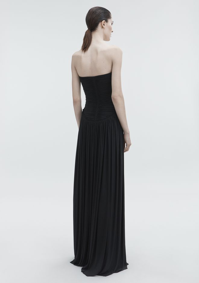 ALEXANDER WANG RUCHED BODICE GOWN Robe longue Adult 12_n_r