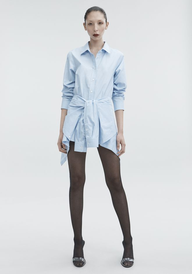 ALEXANDER WANG TIE FRONT DRESS  3/4 길이 드레스 Adult 12_n_f