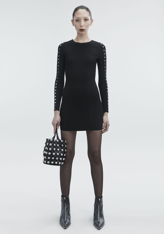 ALEXANDER WANG SNAP MINI DRESS KNIT DRESS Adult 12_n_f