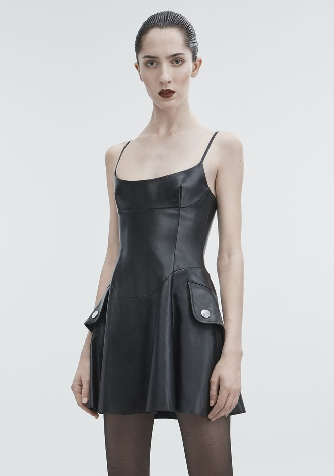 ALEXANDER WANG LEATHER MINI DRESS  Short dress  12_n_d