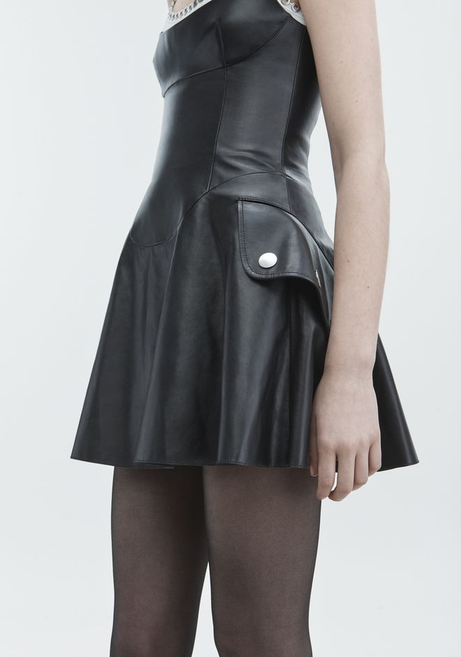 ALEXANDER WANG LEATHER MINI DRESS  Short dress  12_n_r
