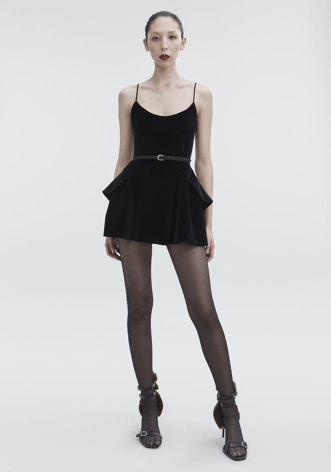 ALEXANDER WANG Short Dresses Women VELVET MINI DRESS