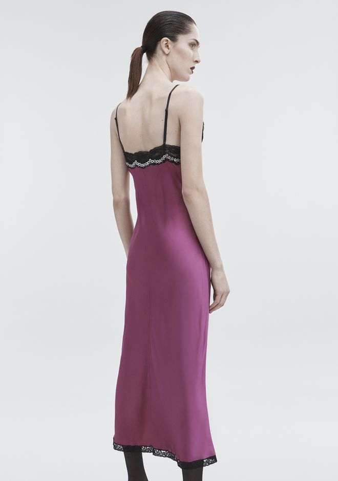 ALEXANDER WANG SATIN SLIP DRESS 3/4 length dress Adult 12_n_r