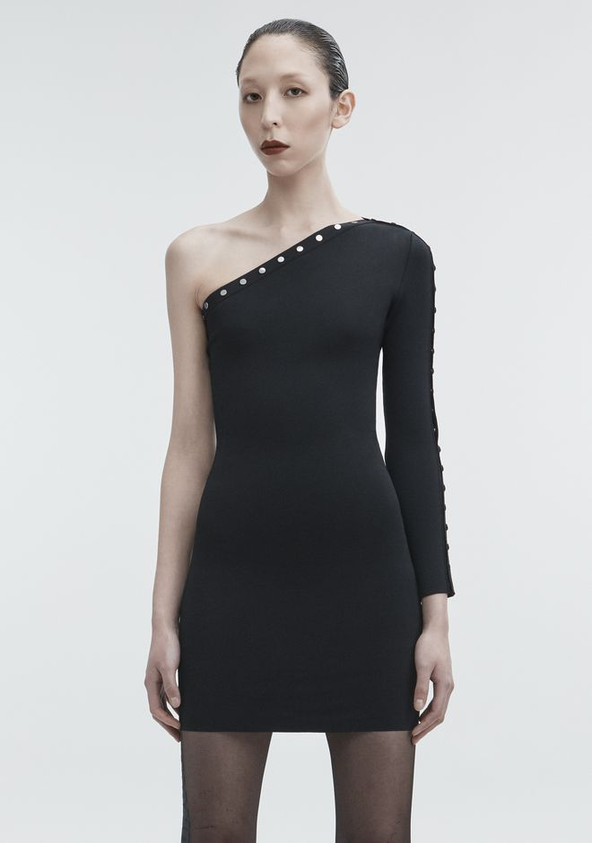 ALEXANDER WANG ASYMMETRICAL SNAP DRESS Short dress Adult 12_n_a