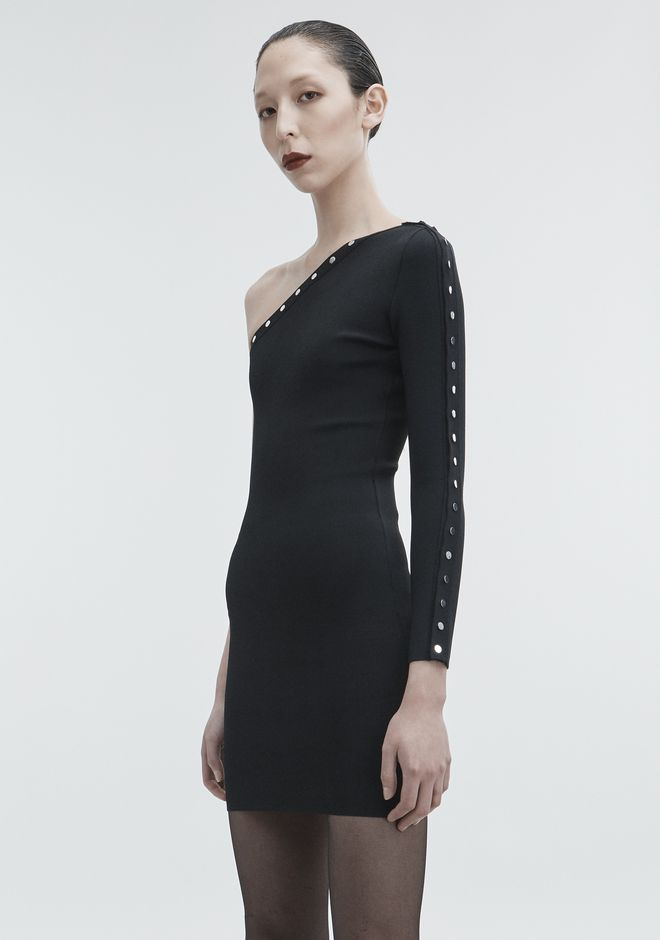ALEXANDER WANG ASYMMETRICAL SNAP DRESS Short dress Adult 12_n_d