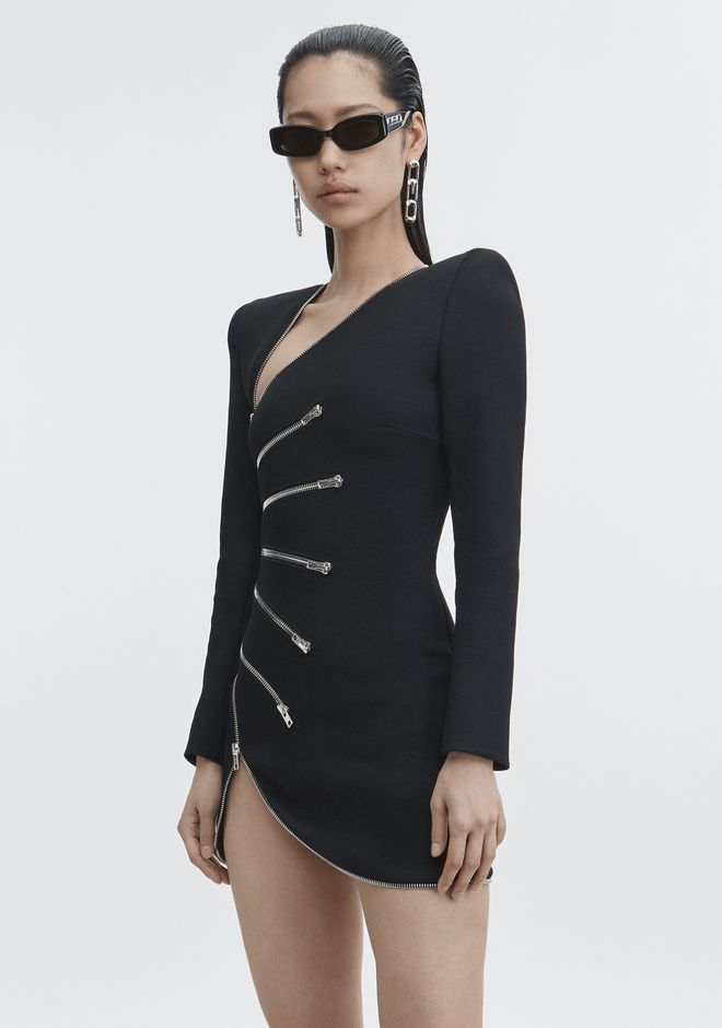 ALEXANDER WANG ZIPPER DRESS Short Dress Adult 12_n_d