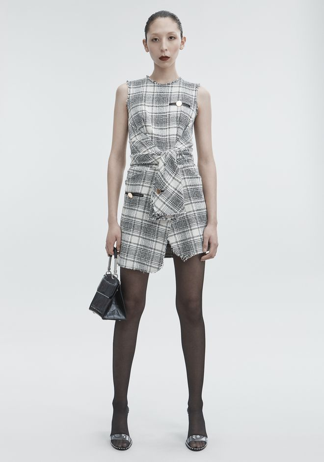 ALEXANDER WANG Short Dresses Women DECONSTRUCTED TWEED DRESS