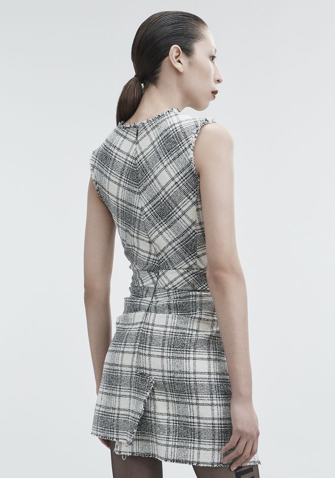ALEXANDER WANG DECONSTRUCTED TWEED DRESS Short dress Adult 12_n_e