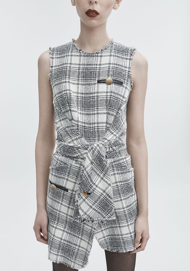 ALEXANDER WANG DECONSTRUCTED TWEED DRESS Short dress Adult 12_n_r