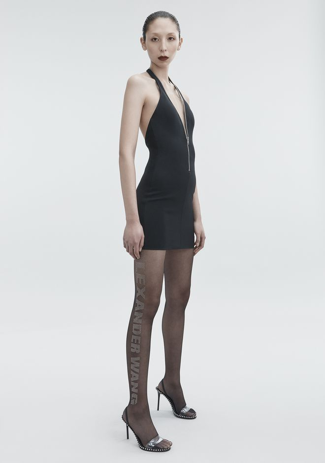 ALEXANDER WANG HALTER MINI DRESS 3/4 length dress Adult 12_n_f