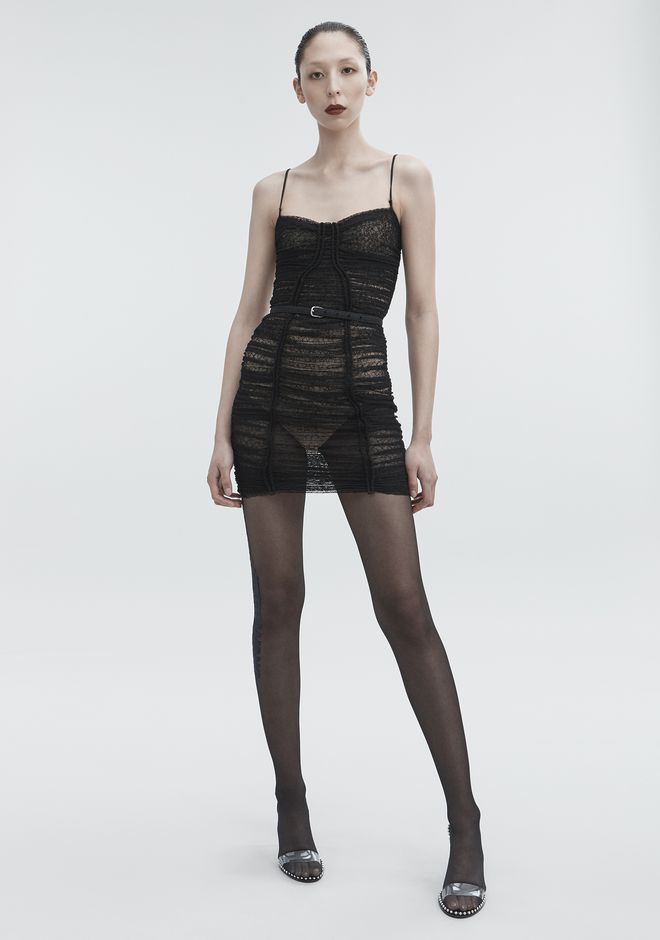 ALEXANDER WANG new-arrivals-ready-to-wear-woman RUCHED LACE DRESS