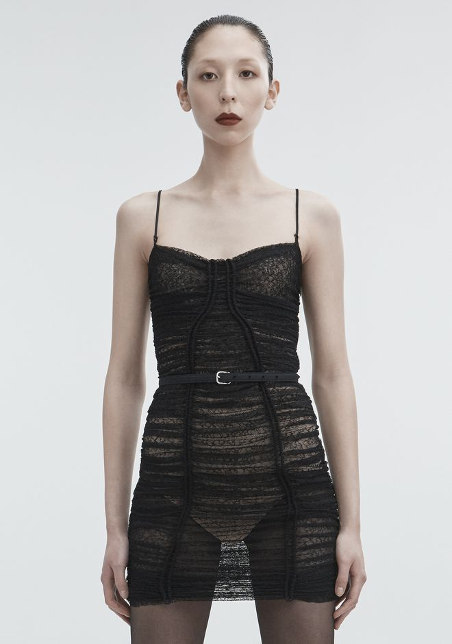 ALEXANDER WANG RUCHED LACE DRESS 3/4 length dress Adult 12_n_a