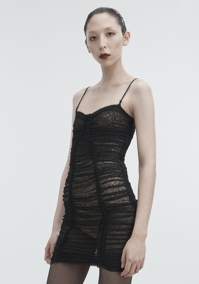 ALEXANDER WANG RUCHED LACE DRESS 3/4 length dress Adult 12_n_d