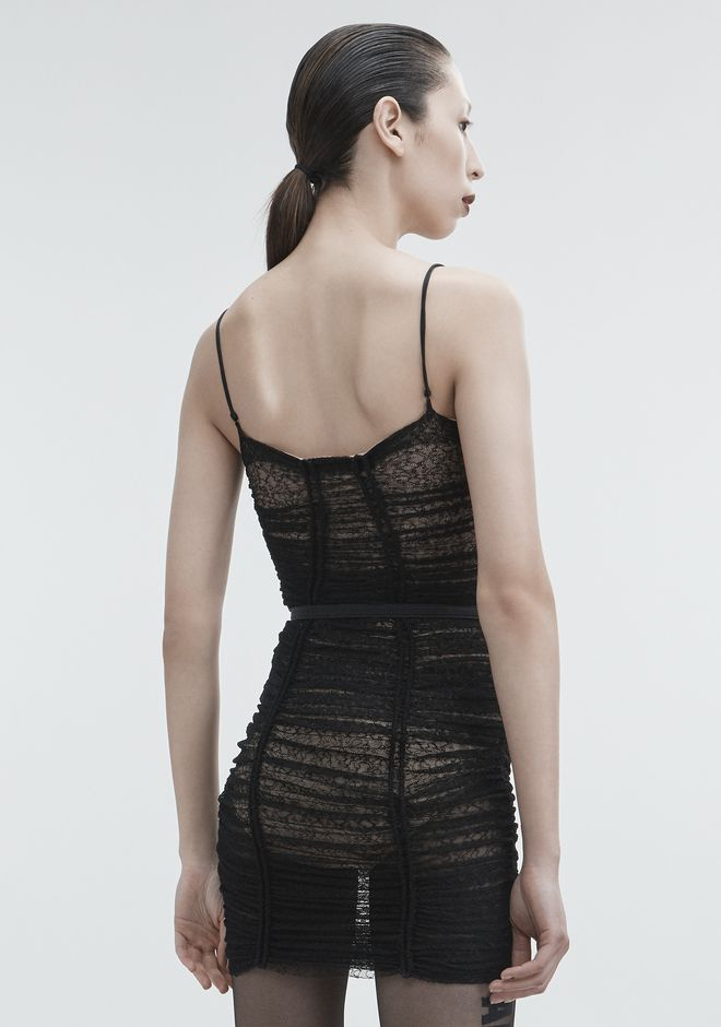 ALEXANDER WANG RUCHED LACE DRESS 3/4 length dress Adult 12_n_e