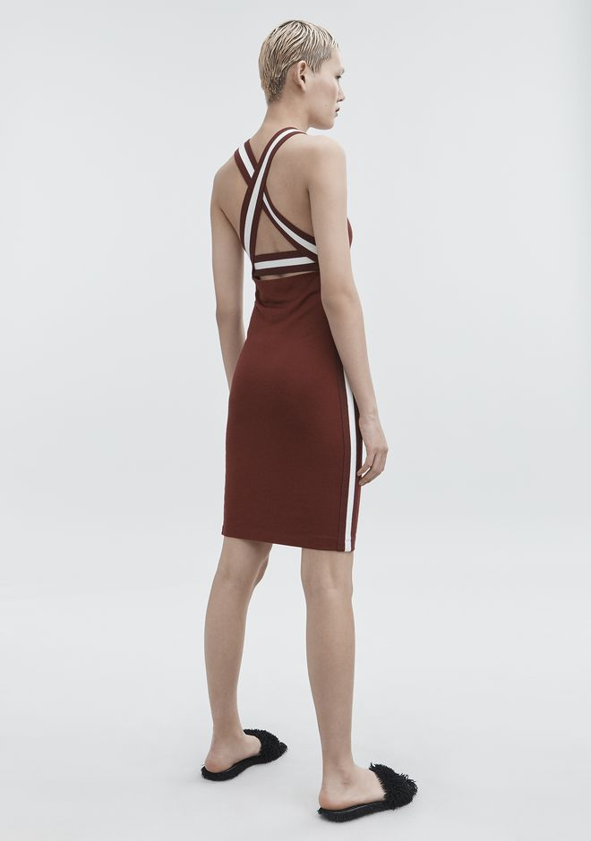 T by ALEXANDER WANG sltbdr PLAITED JERSEY DRESS