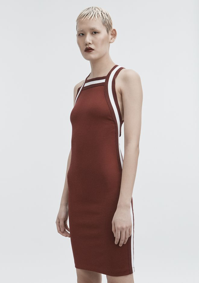 T by ALEXANDER WANG PLAITED JERSEY DRESS KNIT DRESS Adult 12_n_e