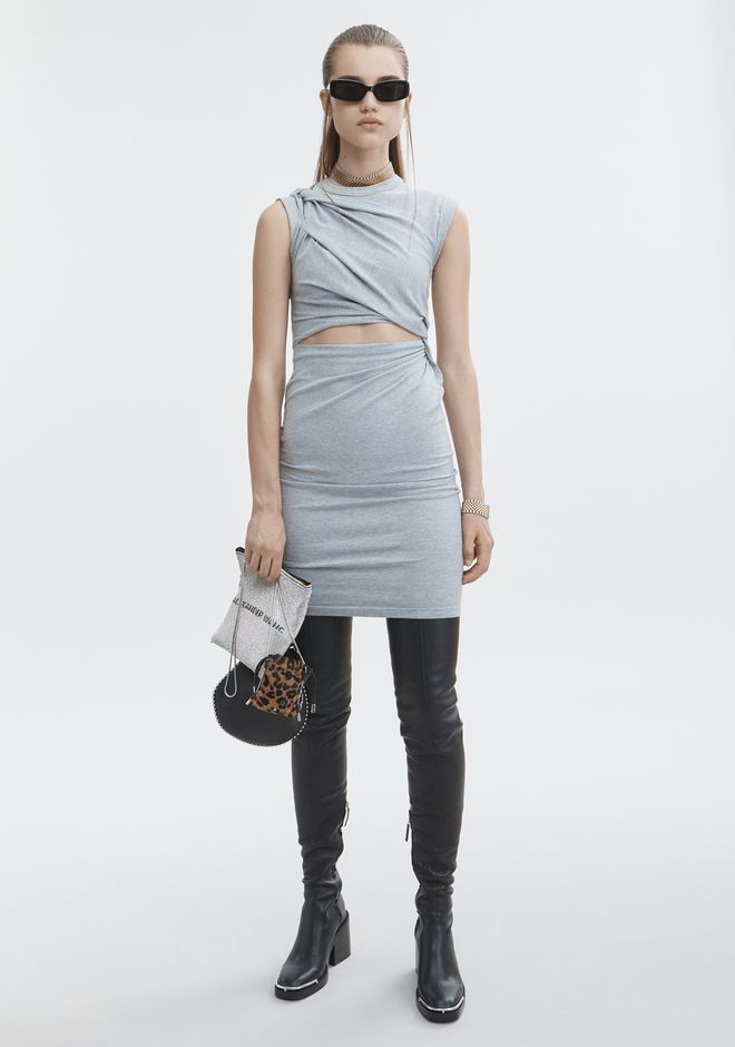 T by ALEXANDER WANG sltbdr KEYHOLE TWIST DRESS
