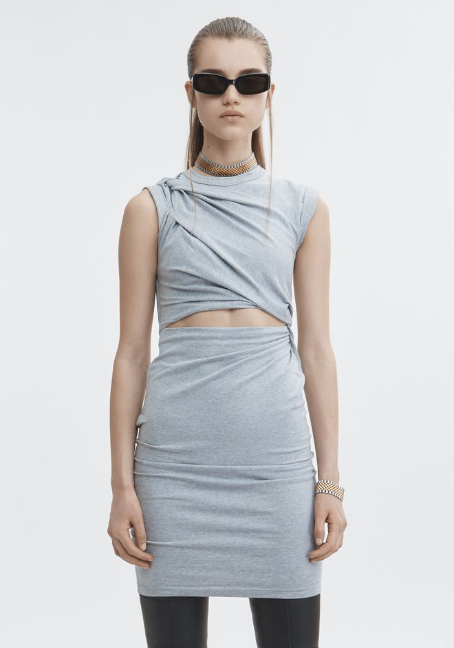 T by ALEXANDER WANG KEYHOLE TWIST DRESS 3/4 length dress Adult 12_n_a