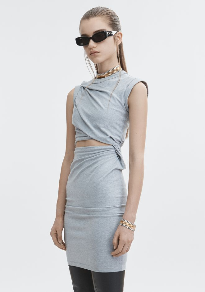 T by ALEXANDER WANG KEYHOLE TWIST DRESS 3/4 length dress Adult 12_n_d