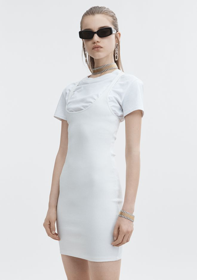T by ALEXANDER WANG BI-LAYER RIB DRESS 숏 드레스 Adult 12_n_d