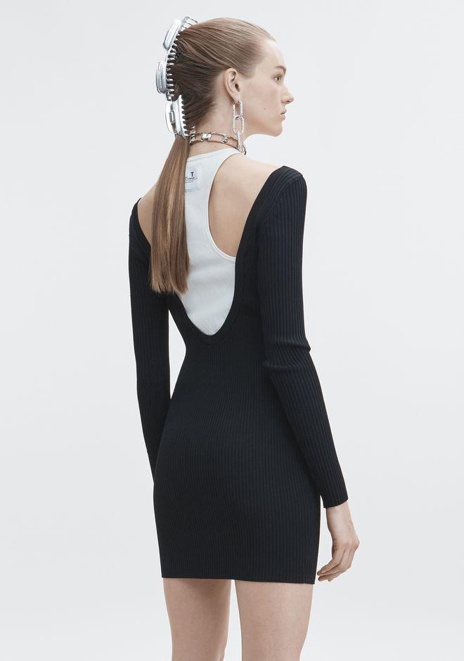 T by ALEXANDER WANG BI-LAYER MINI DRESS 3/4-Kleid Adult 12_n_e