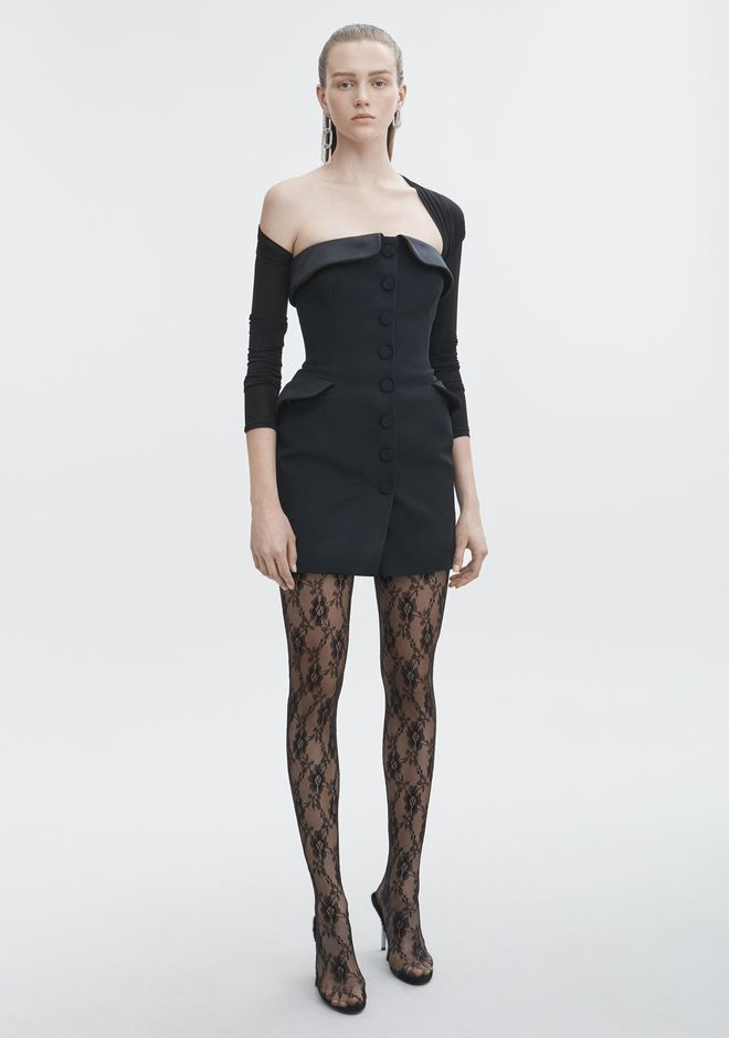 ALEXANDER WANG new-arrivals STRAPLESS TUXEDO DRESS