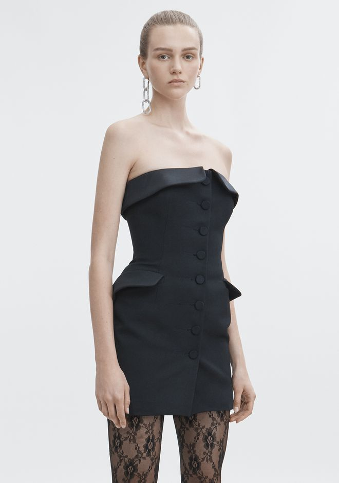 ALEXANDER WANG STRAPLESS TUXEDO DRESS Short dress Adult 12_n_d