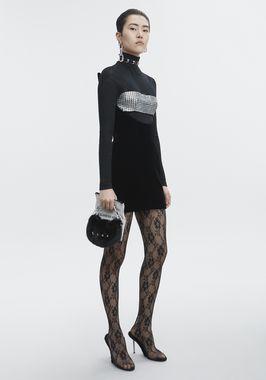 SCULPTED STRAPLESS DRESS