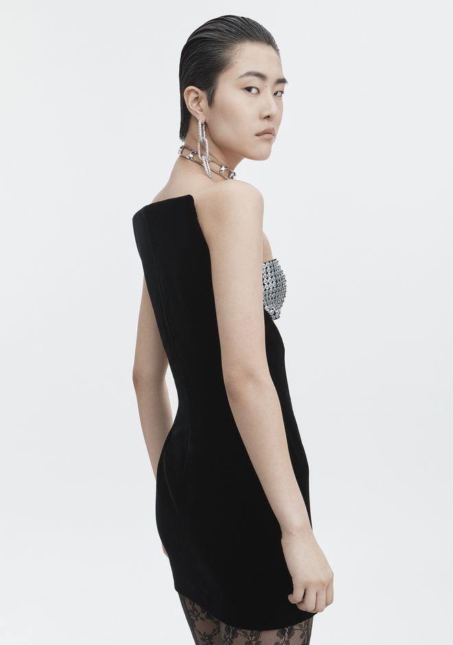 ALEXANDER WANG SCULPTED STRAPLESS DRESS Short Dress Adult 12_n_d