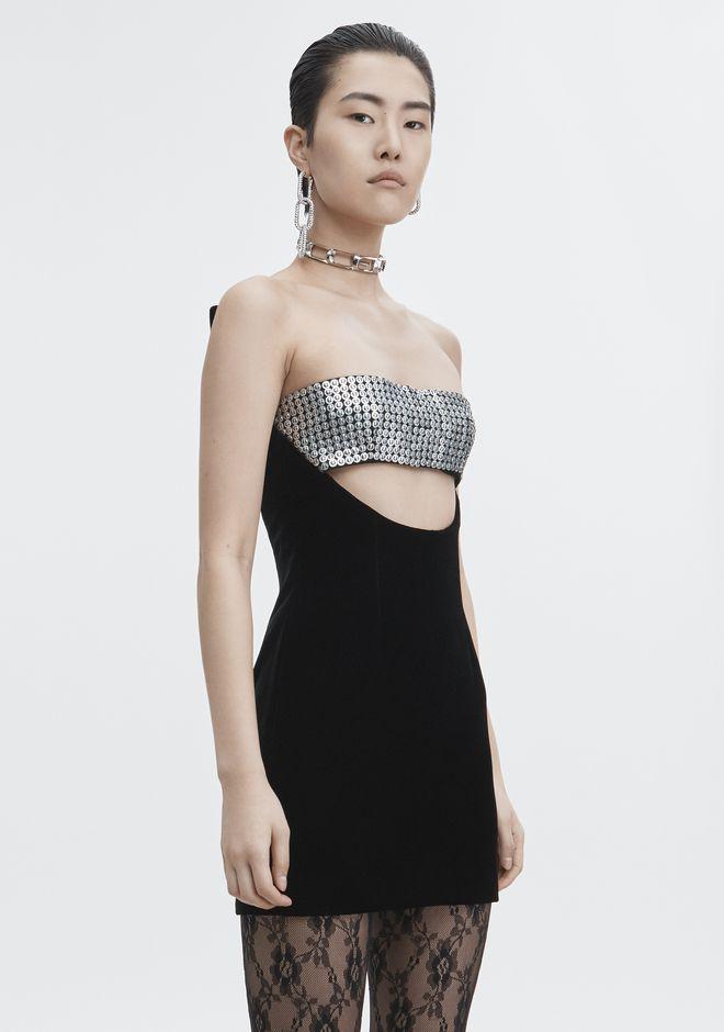ALEXANDER WANG SCULPTED STRAPLESS DRESS Short Dress Adult 12_n_r