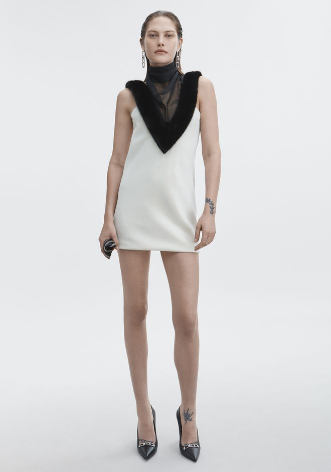 ALEXANDER WANG Short Dresses Women MINK CHIFFON HALTER DRESS