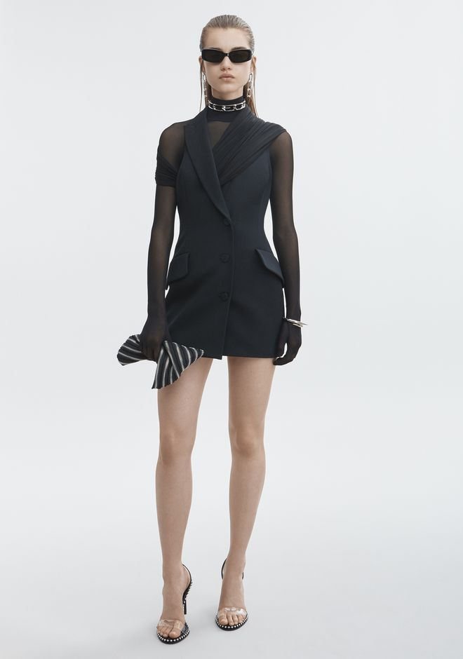 ALEXANDER WANG slrtwdr DRAPED TUXEDO DRESS