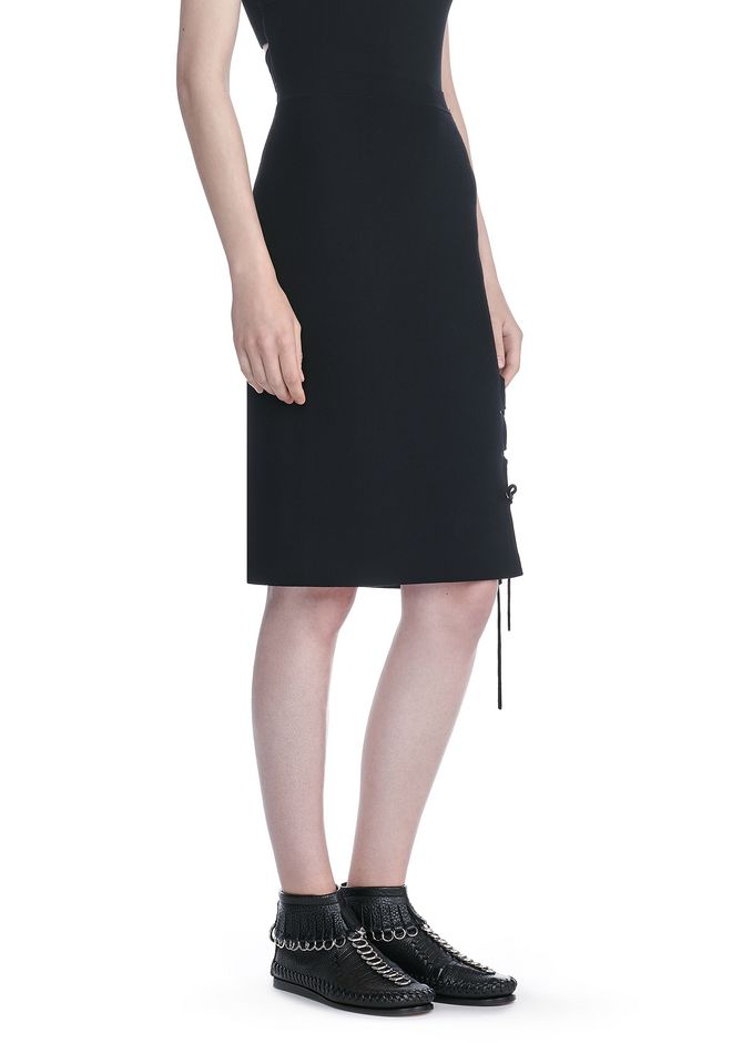 ALEXANDER WANG PENCIL SKIRT WITH SIDE SLIT LACING SKIRT Adult 12_n_e