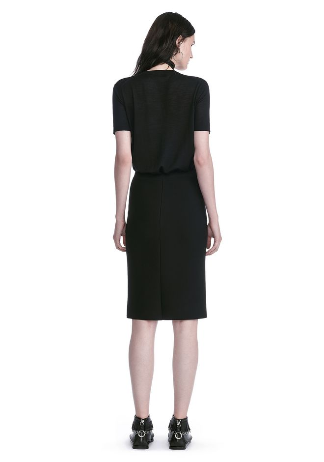 ALEXANDER WANG PENCIL SKIRT WITH SIDE SLIT LACING SKIRT Adult 12_n_r