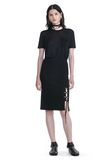 ALEXANDER WANG PENCIL SKIRT WITH SIDE SLIT LACING SKIRT Adult 8_n_f