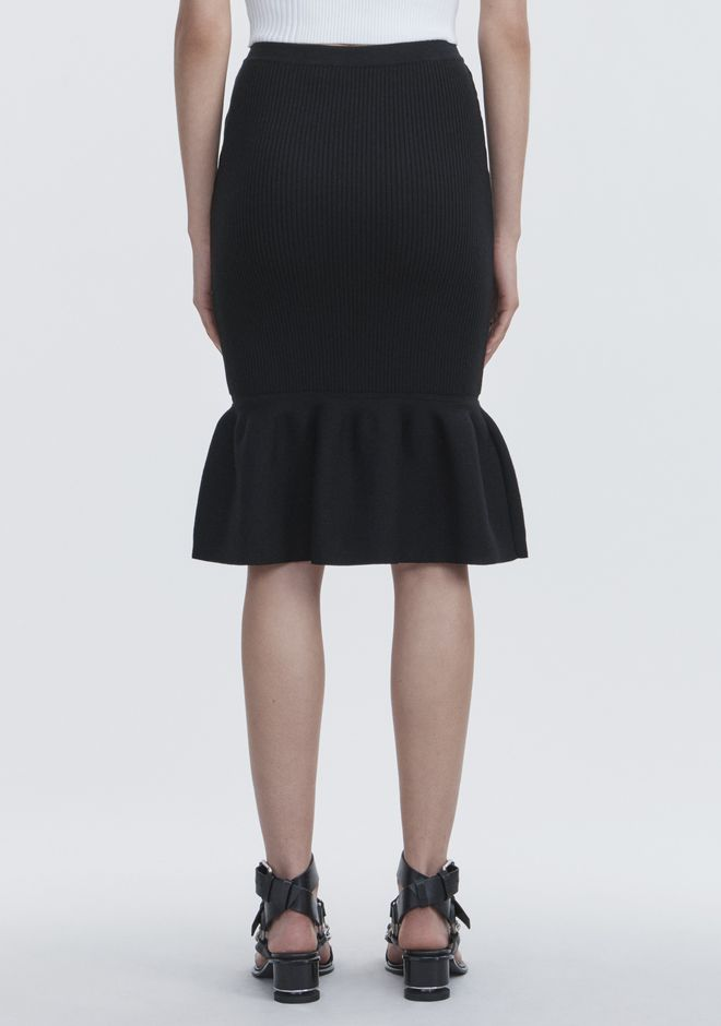 ALEXANDER WANG RIBBED PEPLUM SKIRT SKIRT Adult 12_n_a
