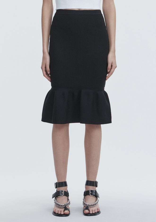 ALEXANDER WANG RIBBED PEPLUM SKIRT SKIRT Adult 12_n_d