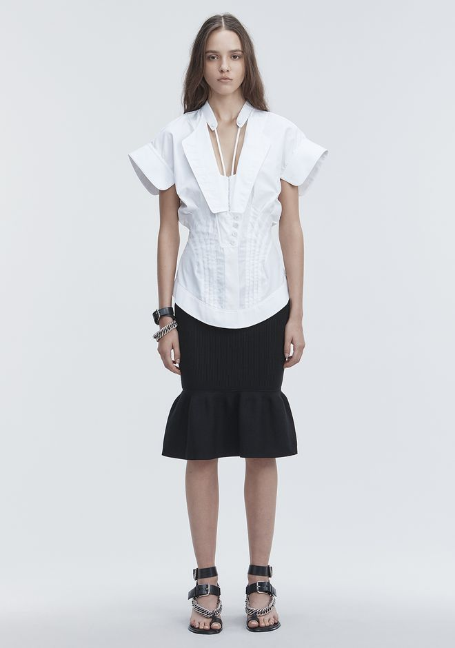 ALEXANDER WANG RIBBED PEPLUM SKIRT 半裙 Adult 12_n_f