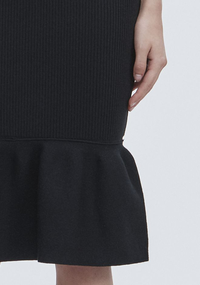 ALEXANDER WANG RIBBED PEPLUM SKIRT SKIRT Adult 12_n_r
