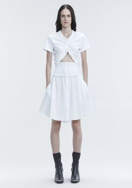 WASHED POPLIN SKIRT