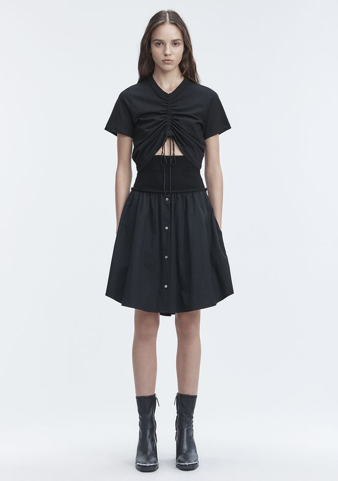 T by ALEXANDER WANG SKIRTS Women WASHED POPLIN SKIRT