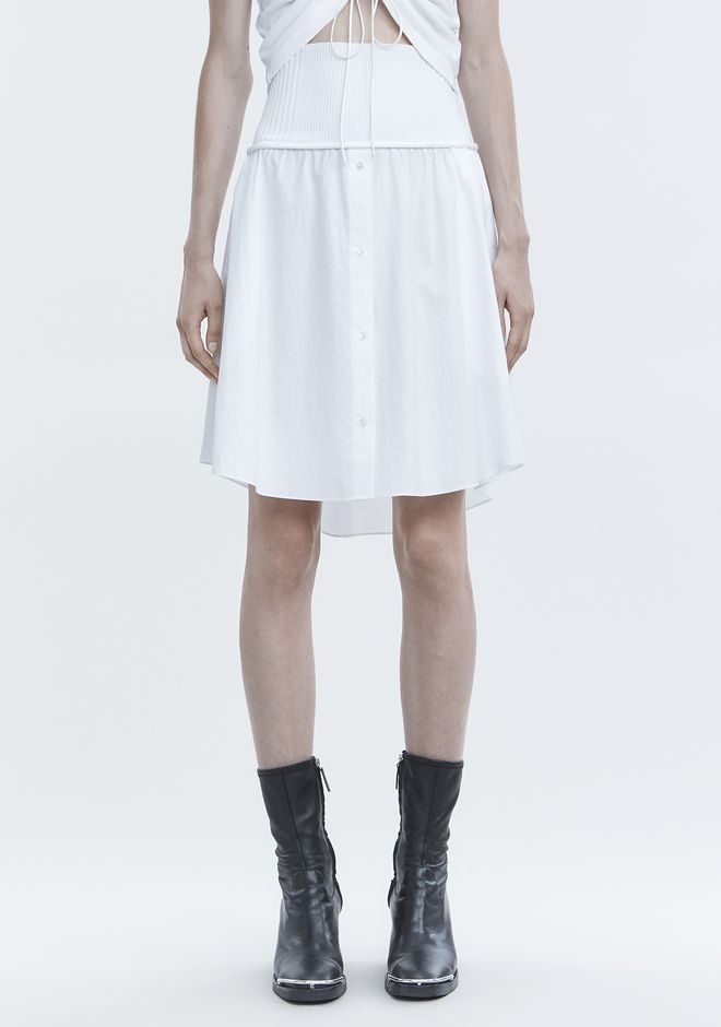 T by ALEXANDER WANG WASHED POPLIN SKIRT スカート Adult 12_n_d