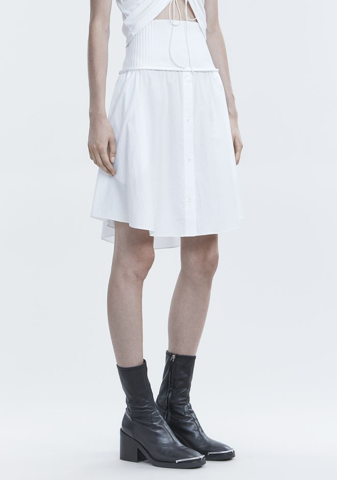 T by ALEXANDER WANG WASHED POPLIN SKIRT SKIRT Adult 12_n_e