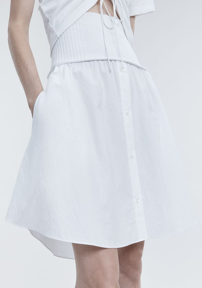 T by ALEXANDER WANG WASHED POPLIN SKIRT SKIRT Adult 12_n_r