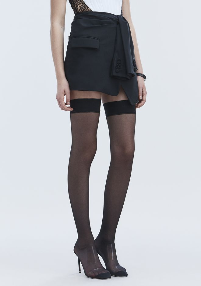 ALEXANDER WANG TUXEDO SKIRT ROCK Adult 12_n_e