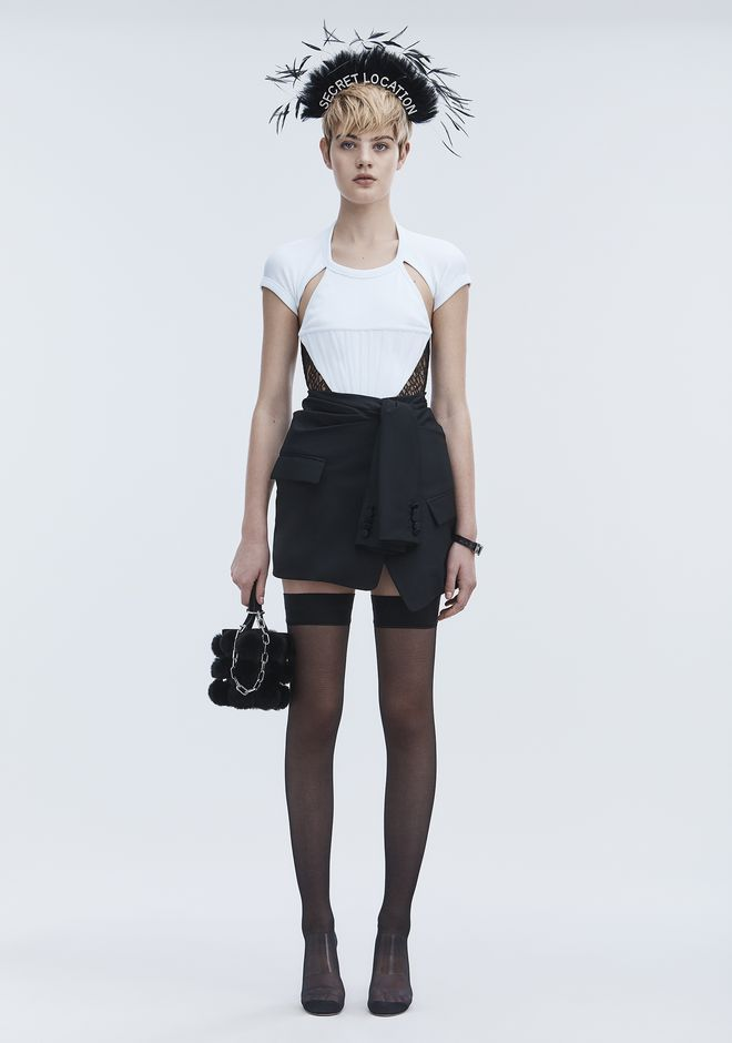 ALEXANDER WANG TUXEDO SKIRT ROCK Adult 12_n_f