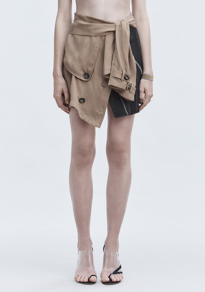 ALEXANDER WANG DECONSTRUCTED TRENCH SKIRT  SKIRT Adult 12_n_d