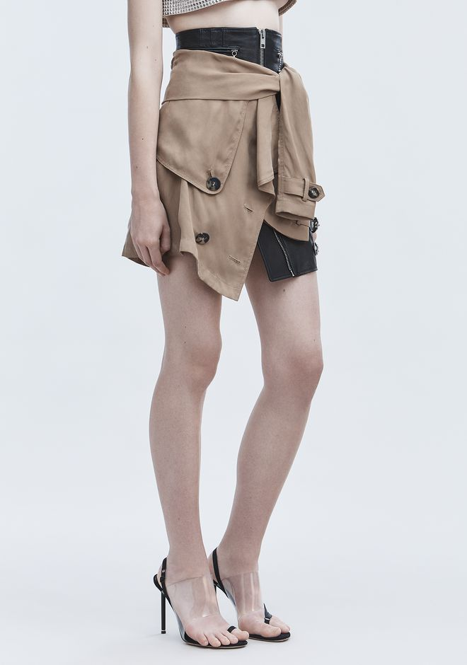 ALEXANDER WANG DECONSTRUCTED TRENCH SKIRT  SKIRT Adult 12_n_e