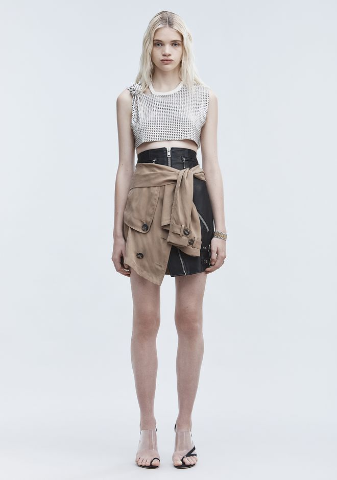 ALEXANDER WANG DECONSTRUCTED TRENCH SKIRT  스커트 Adult 12_n_f